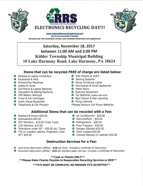 Electronics collection programs event flier xflitez Gallery
